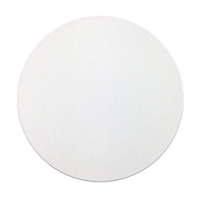 "9"" White Corrugated Circle 250/CS"