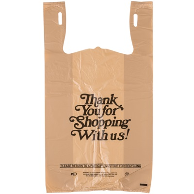 1/6 Beige Shopping Bags 20 Mic 600/CS