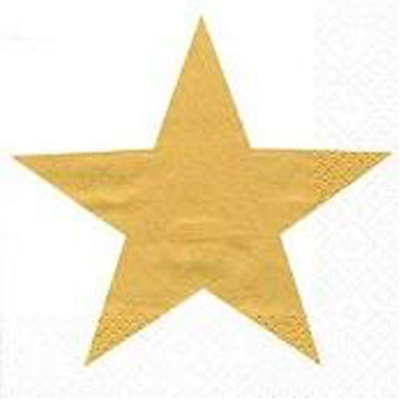 Bright Star Gold Lunch Napkin 12/20 CS