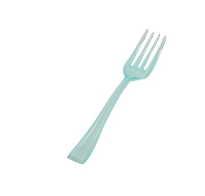 "Tiny Tasting Fork 4"" Green 960/CS Fineline 6500-GRN"