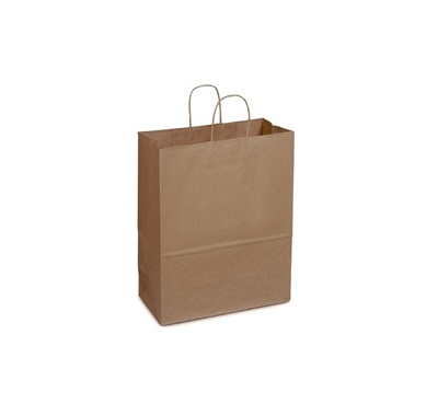 Shopping Bags Kraft Paper Handled 13x7x17 250/CS