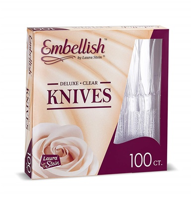 Embellish Deluxe Clear Knives *In Box* 10/100S