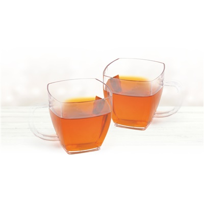 10 Oz Clear Mugs 24/8 CT (3911)