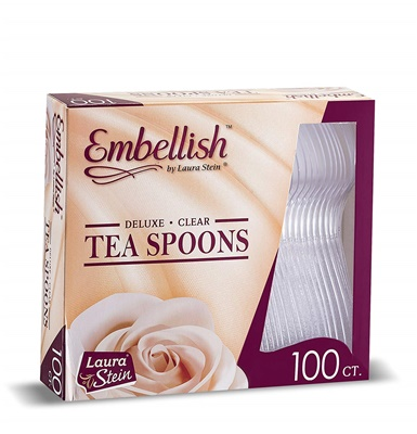 Embellish Deluxe Clear Tea Spoons *In Box* 10/100S