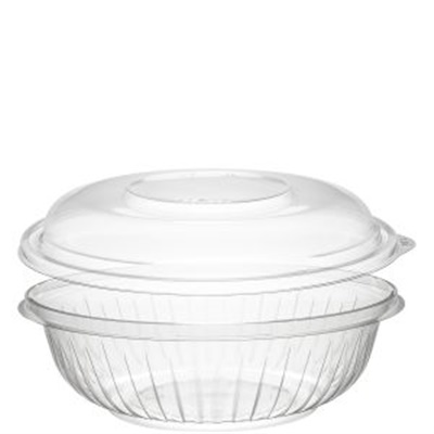 Dart PET24BCD PresentaBowls 24 oz. Clear Plastic Bowl with Dome Lid - 126/CS