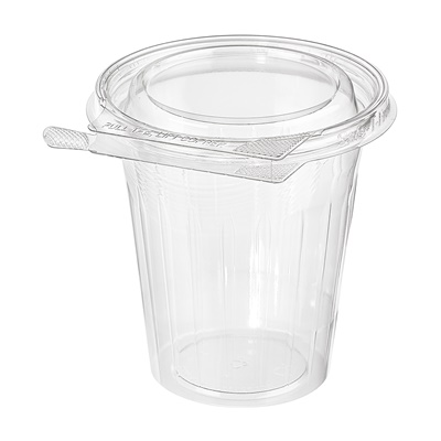 Safe-T-Fresh 16 oz. Clear Tamper Resistant Round Fruit Cup 232/CS TS16CCR