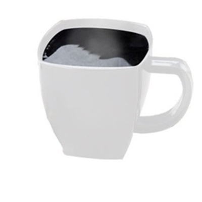 8 oz White Square Coffee Mug 96/CS SM8W