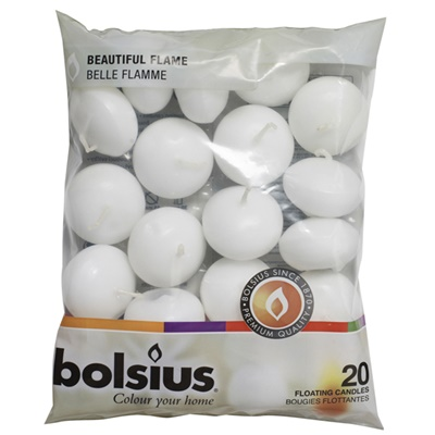 Floaiting Candle White 20/16 Bag BF53702
