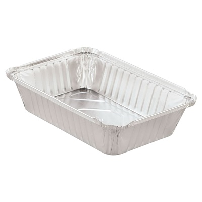 2-1/4 LB Oblong Aluminum Pan 500/CS