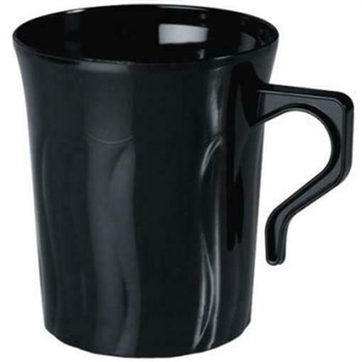 Flairware 8 oz Black Coffee Mug 36/8 CT 208-BK Fineline