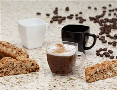 Clear Square Mini Mugs 2 oz