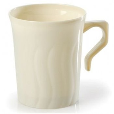 Flairware 8 oz Bone / Ivory Coffee Mug 36/8 CT 208-BO Fineline