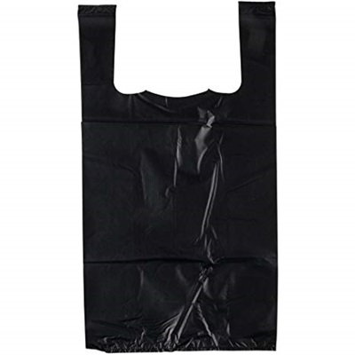 "Black Shopping Bags 1/6 ""CTC"" 20 MIC 600 Bags"