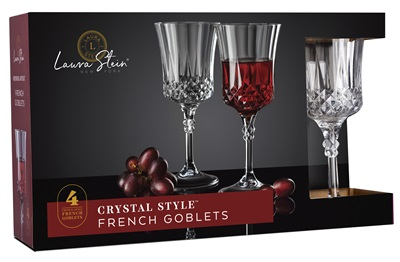 Crystal Style French Goblet 4 Pack 12/S