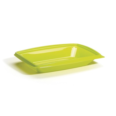 "Salad and Sandwich Two-piece, Lime Green Rectangle Base 10x7"" 400/CS DPI10X7LGB"