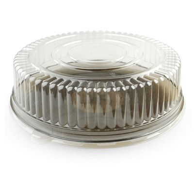 "16"" Clear Round Dome Lid 25/Case Fineline 9601-L"
