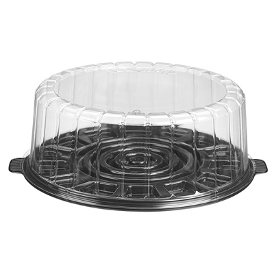 "9"" Shallow Dome Cake Container Combo 1009SBK"