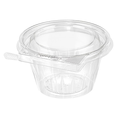 Safe-T-Fresh 8 oz. Tamper Evident Fruit Cup Shallow Lid 272/CS TS8CCR
