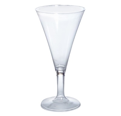 Fineline Tiny Temptations 2 oz. 1-Piece Tiny Barware Clear Champagne Flute 96/CS 6412-CL