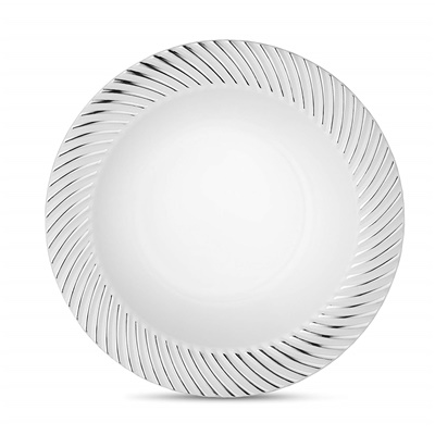 Curve Series 12 Oz White/ Silver Bowl 12/10 CT (CRV-B12S)