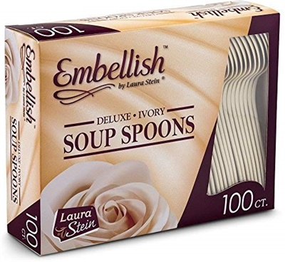 Embellish Deluxe Ivory Soup Spoon *In Box* 10/100S