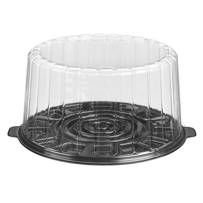 "9"" Dome Cake Container Combo 1009BK"