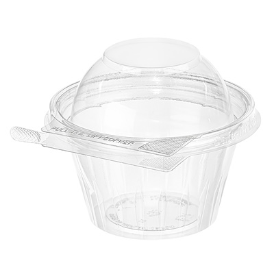 Safe-T-Fresh 8 oz. Tamper Evident Fruit Cup Dome Lid 272/CS TS8CCRD