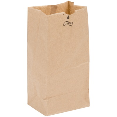 4 lb. Brown Paper Bag 500/Bundle PK. #4