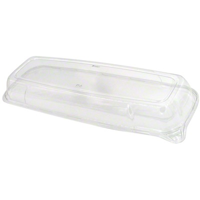 "Mozaik Platter Clear Dome Lid For 6.5"" x 17.5"" Tray Sabert 5618"