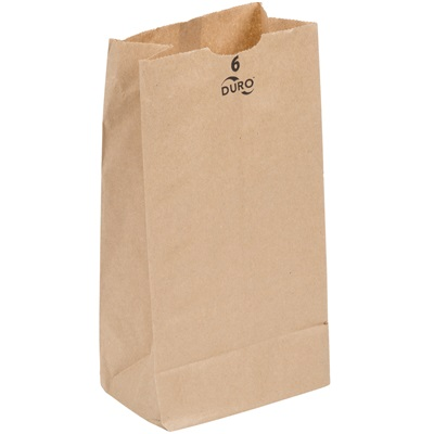 6 lb Brown Paper Bag 500 Bundle Duro