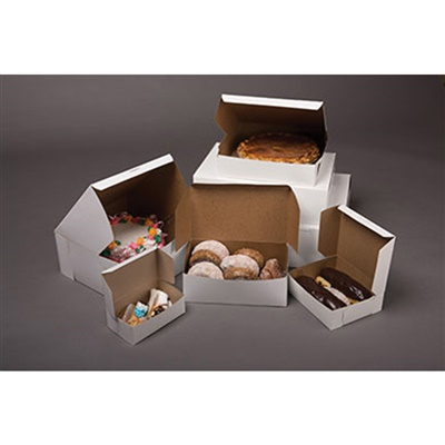 "Bakery Box White 12x12x2.5"" 100/CT"