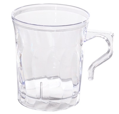 Flairware 8 oz Clear Coffee Mug 36/8 CT 208-CL Fineline