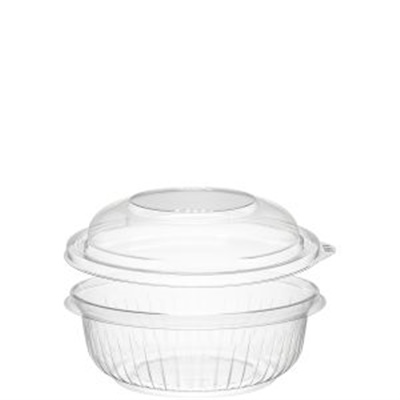 Dart PET12BCD PresentaBowls 12 oz. Clear Plastic Bowl with Dome Lid - 252/CS