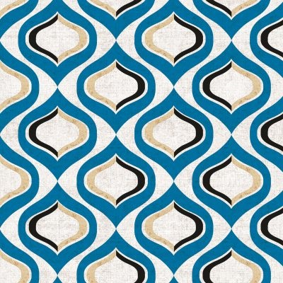 Pattern Blue Lunch Napkins 12/20 CS