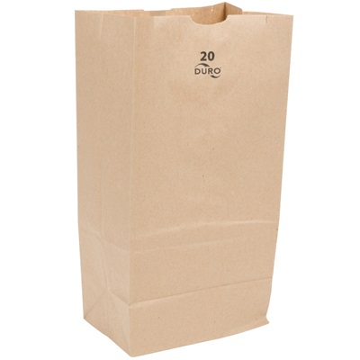 20 Lb. Brown Paper Bag 500 Bundle Pk. #20