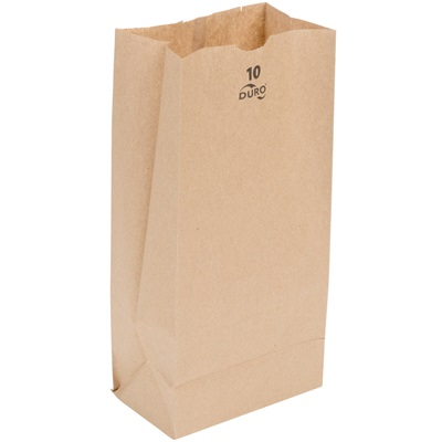 10 lb Brown Paper Bag 500 Bundle Duro