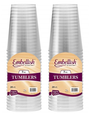 Embllish 7 Oz Clear Tumbler 25/20S