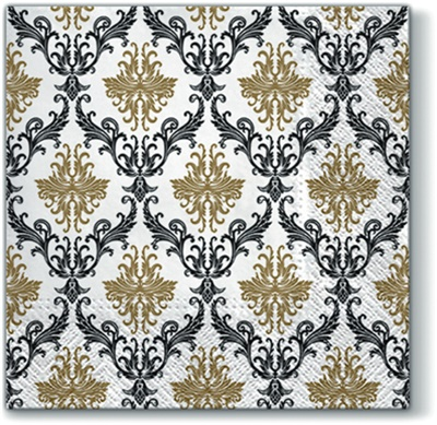 Royal Ornament Gold Lunch Napkin 12/20 CS (096809)