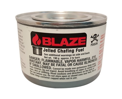 Blue Blaze Sterno Handy Fuel Chafing Fuel 2 Hours 72/CS