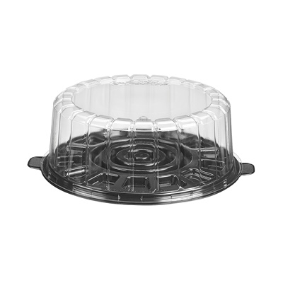 "7"" Shallow Dome Cake Container Combo 1007SBK"