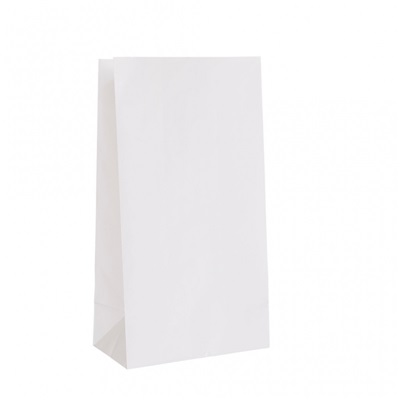 White Paper Bag 2 lb 500 Bundle Duro