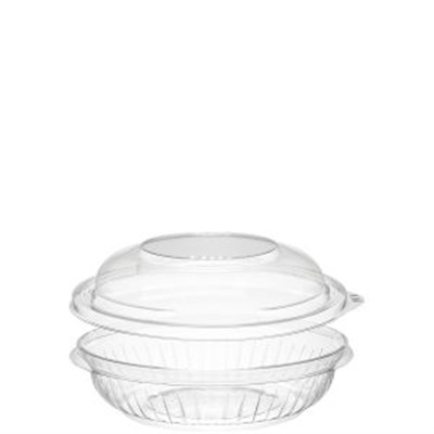 Dart PET8BCD PresentaBowls 8 oz. Clear Plastic Bowl with Dome Lid 252/CS