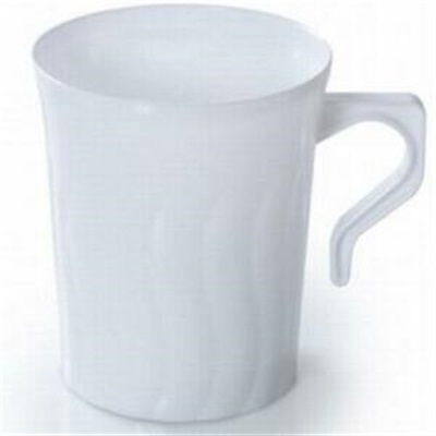 Flairware 8 oz White Coffee Mug 36/8 CT 208-WH Fineline