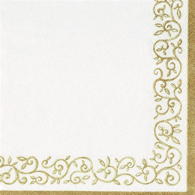 Romantic Gold Border Lunch 12/20 CS
