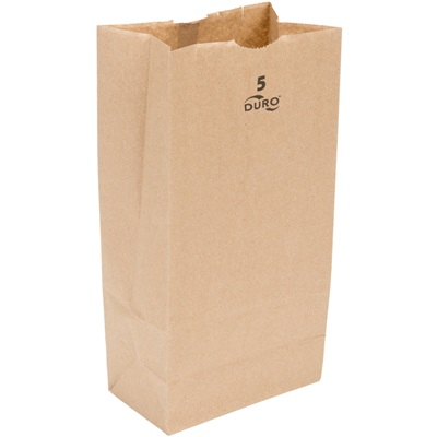 5 lb Brown Paper Bag 500 Bundle Duro
