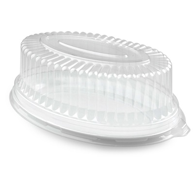 "14"" x 21"" Clear Oval Dome Lid 40/Case Fineline 9514L-CL"