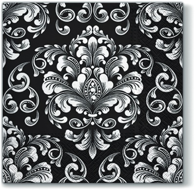 Beautiful Moments Black Lunch Napkin 12/22 CT (120918)