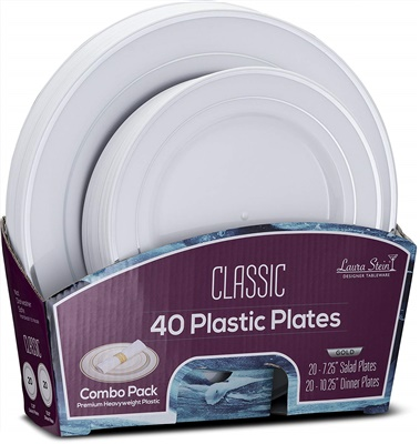 "Classic Silver Combo 7"" & 10"" Plates 20+20 4/CS (CLS-PC710S)"