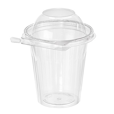 Safe-T-Fresh 16 oz. Clear Tamper Resistant Round Fruit Cup Dome Lid 232/CS TS16CCRD
