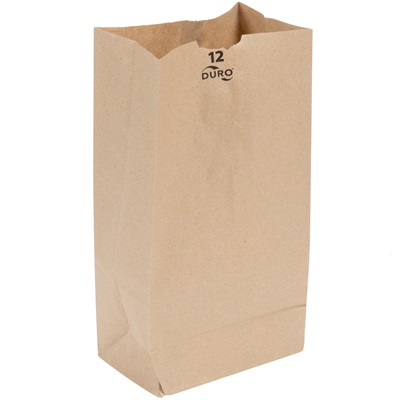 12 lb. Brown Paper Bag 500 Bundle PK. #12